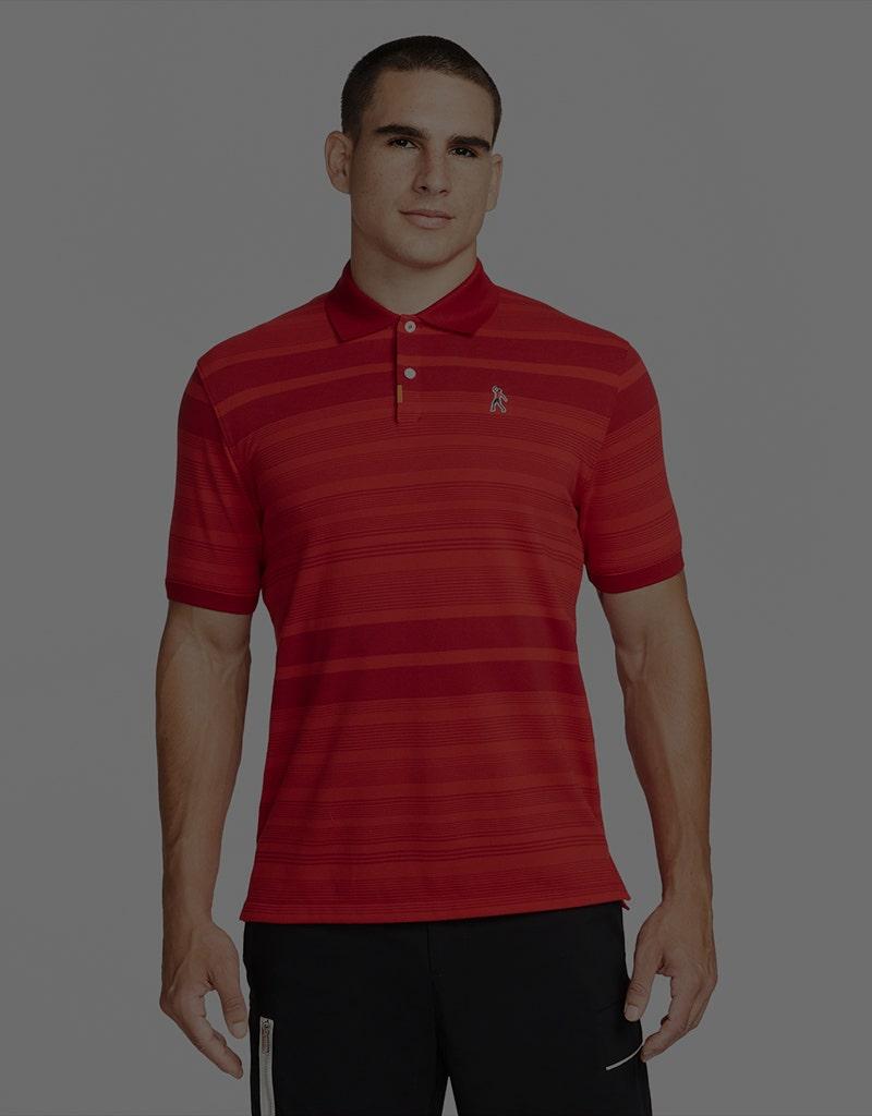 Tiger Woods Motif Logo Polo Nike Golf Red
