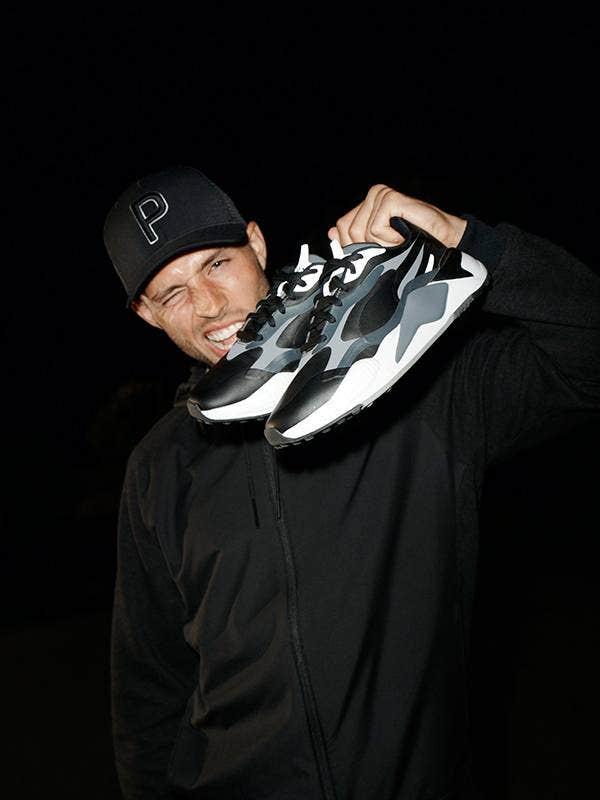 PUMA RS-G Golf Shoes Black Campaign