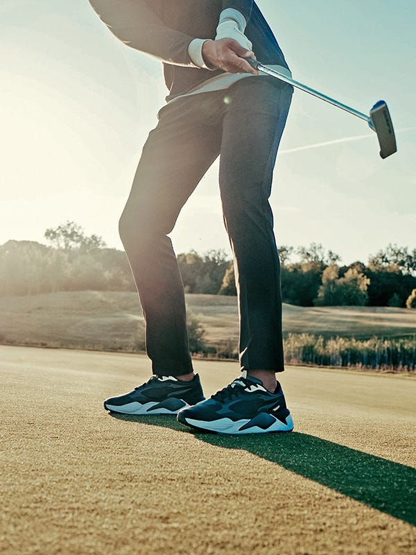 PUMA RS-G Golf Shoes Black On Course