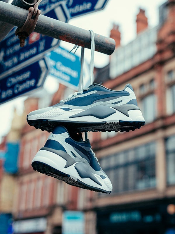 PUMA RS-G Golf Shoes Peacoat Navy Hanging