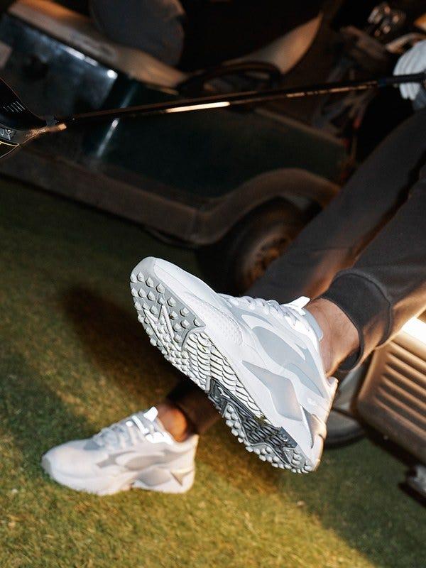 PUMA RS-G Golf Shoes White Silver