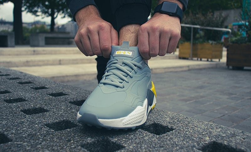 PUMA RS-G Quarry Grey Yellow Sneaker Golf Shoe