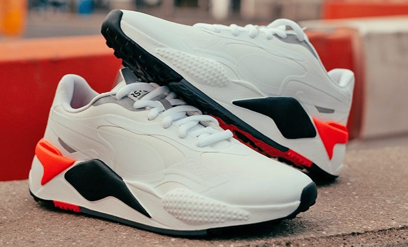 White Red PUMA RS-G Golf Shoes