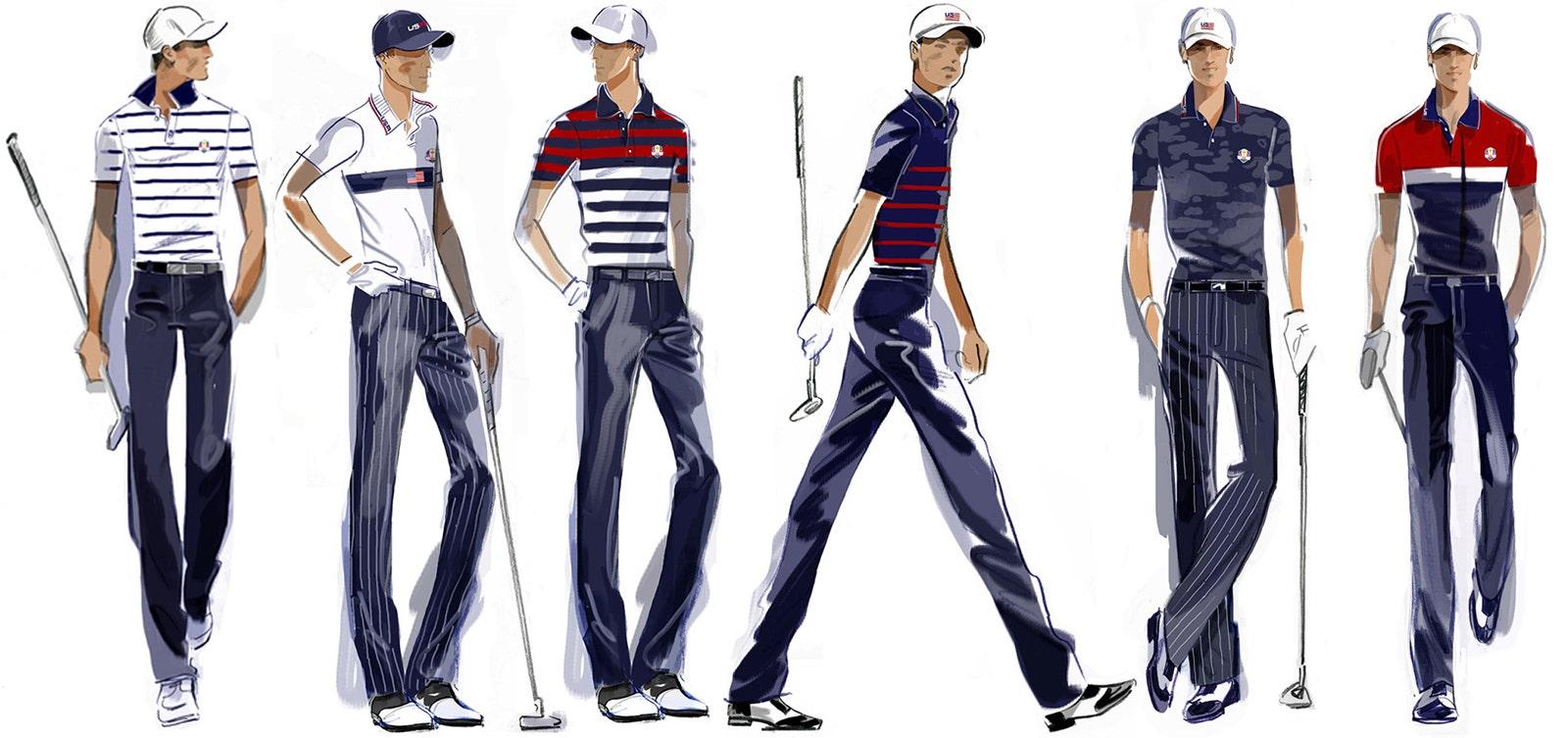 Ryder Cup Team USA Uniforms Ralph Lauren Sketch Outfits