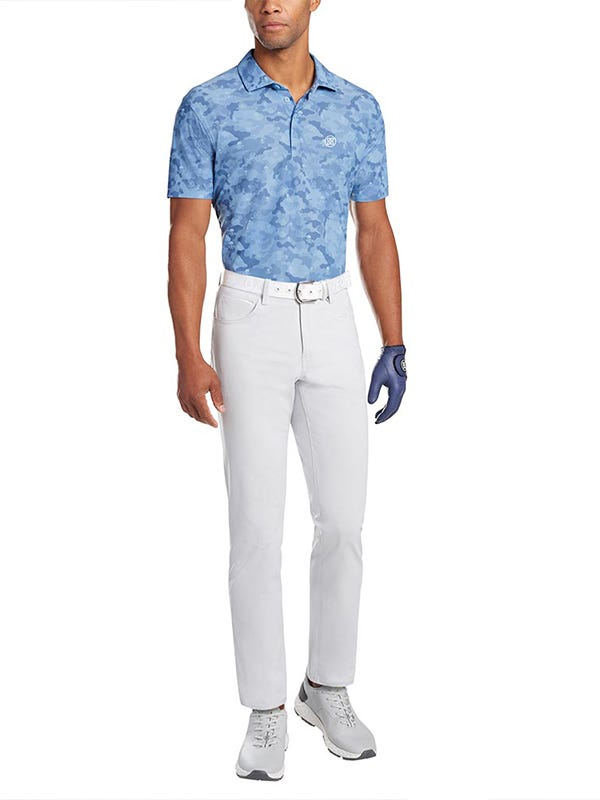 G Fore Blue Camouflage Icon Polo Shirt
