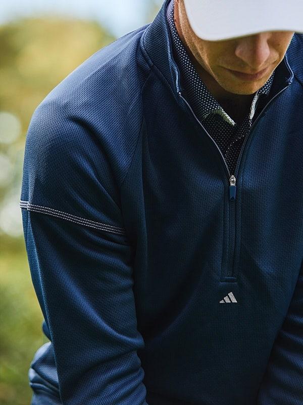 adidas EQT Quarter Zip Pullover Navy Blue