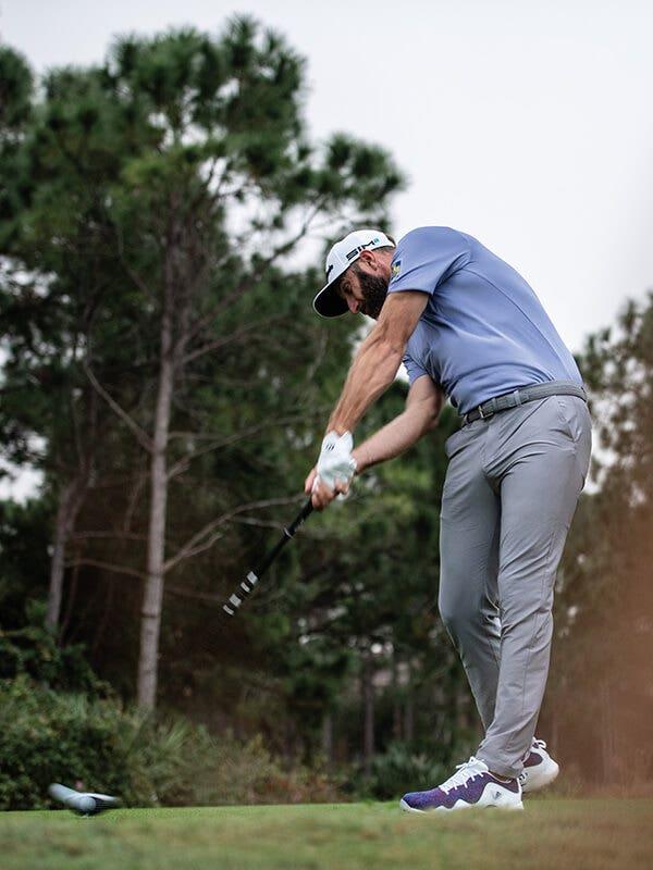 adidas Primeblue Golf Outfit Blue Dustin Johnson